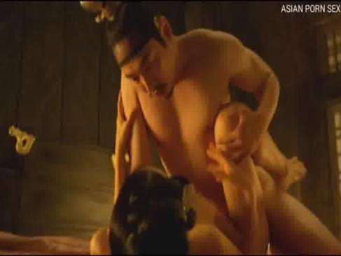 """เรทอาร์ Asian xxx """"จักรพรรดิ์ผู้ยิ่งใหญ่"""" กระเด้าหีนางสนมจน หีแตดแสบร้องเสียวหีสุดโอดอวน"""